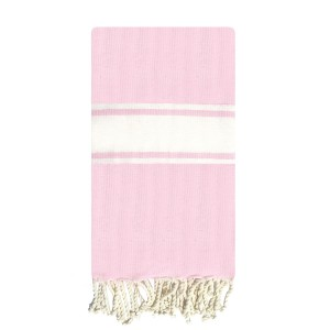 Fouta tunisienne 1x2m Tradition tissage plat Rose Pale packshot