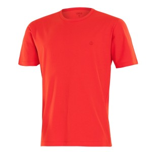 Tee shirt homme col rond et manches courtes rouge packshot