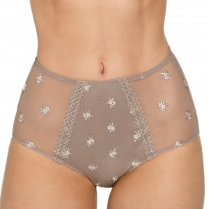 Maxi culotte tulle et microfibre Chantilly Taupe