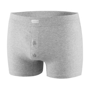 Boxer boutonné homme coton stretch confort Essentials gris packshot