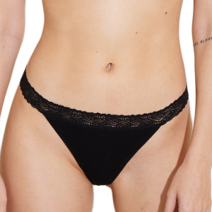 Pack de 3 strings vegan éco-responsable en Lyocell Oeko-Tex Bea Noir
