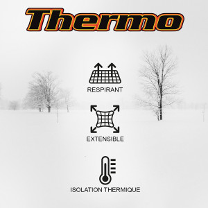 Body thermique manches longues col rond Thermo blanc