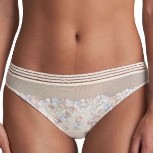 Culotte avec broderies florales Nathy pearled ivory