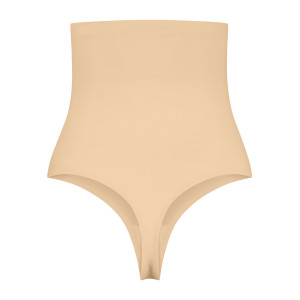 String gainant taille haute gainage fort beige packshot