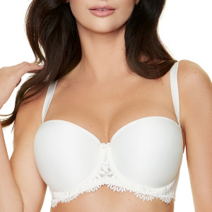Soutien-gorge bandeau push-up Rome cream